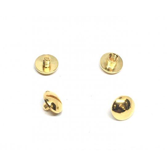 Rivet en laiton doré à l'or fin