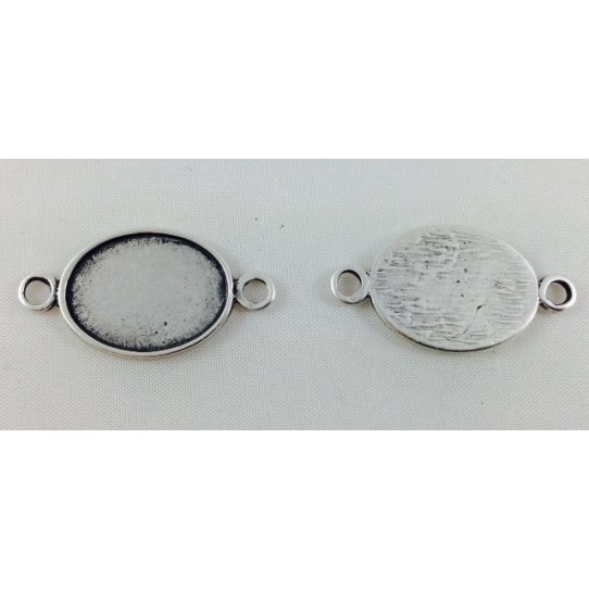 sequin ovale avec 2 anneaux pour fimo ou email