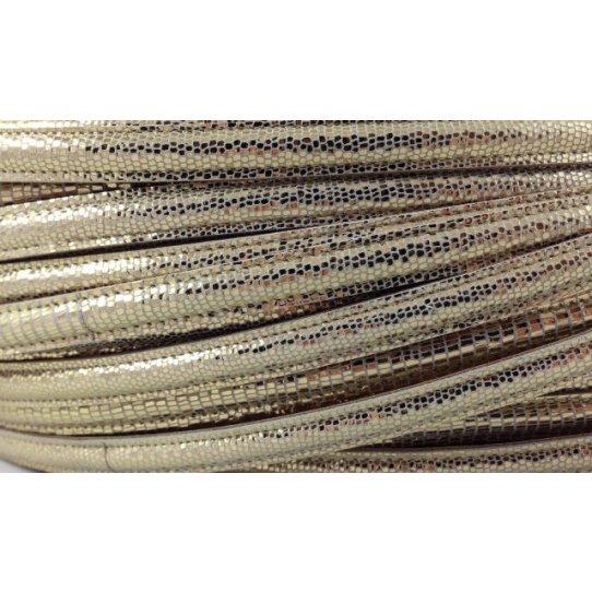 10mm Cuir micro lezard doublé  couture