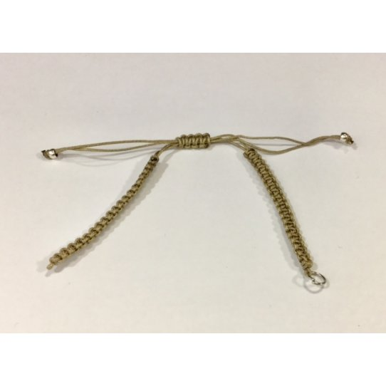 bracelet macramé prêt à l'emploi-19 couleurs anneaux argents