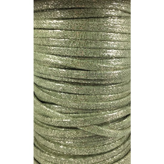 Cuir argenté exclusivité Idil en 5mm