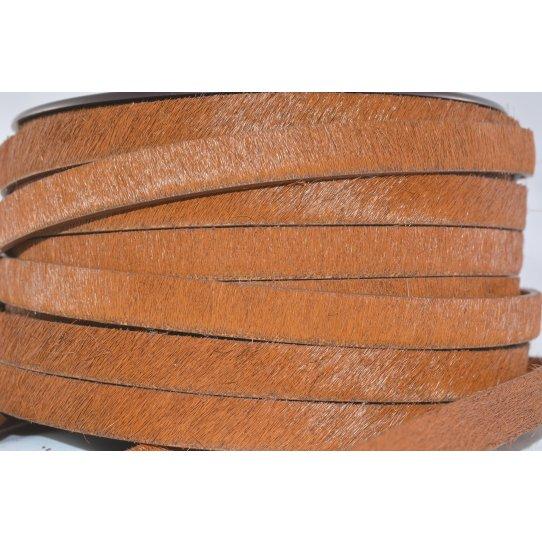 Cuir avec poils unis ou motif 10mm