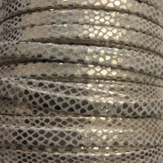 Cuir de chèvre 5mm métallisé motif serpent