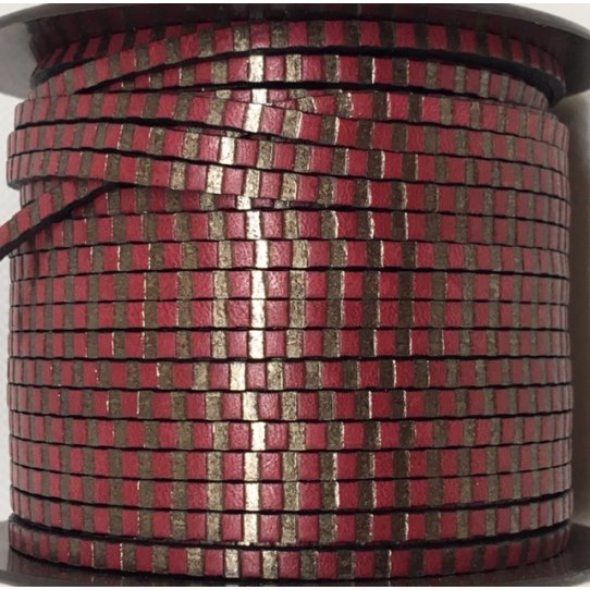 cuir de veau 3mm avec rayure