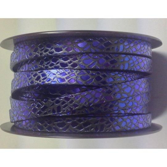 Cuir de veau motif spider 10mm