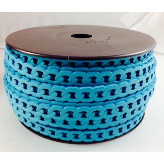 Cuir en forme de chaine gourmette 10 mm
