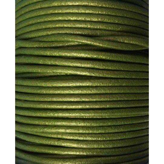 Cuir rond 2 mm couleurs pastel et métalisées