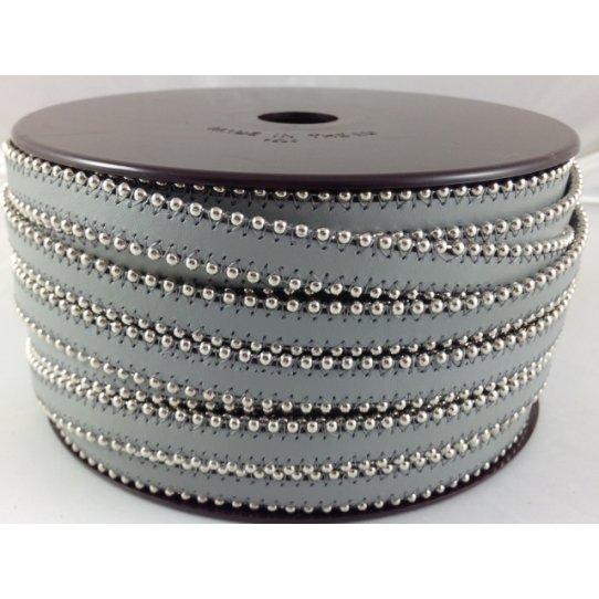 Cuir satiné ou non avec chaîne boule 10 mm-NOUVELLES COULEURS