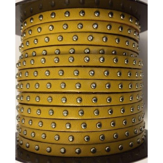 Cuir Veau - Clouté - Plat - 5mm - Cliquez
