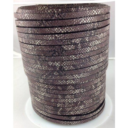 Cuir veau motif serpent 5mm, 4.17€ ht /m soit  5€ ttc