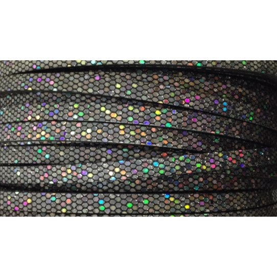 Lanière DISCO  glitter 5mm