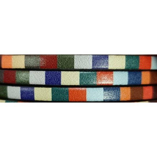 Cuir de veau 5mm imprimé multicolore