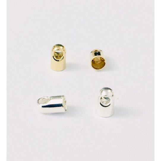 Embout en laiton 3 mm plaqué argent vif ou or en France