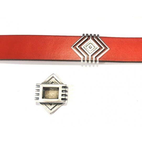 Passant géométrique pour cuir plat 20mm
