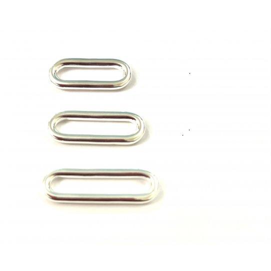 Anneau ovale 23MM en Etain 10microns FABRICATION FRANCAISE