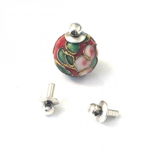 Bélière en laiton  à coller sur perles