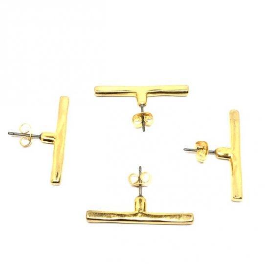 Boucle d'oreille barre à utiliser seul ou avec un pendant