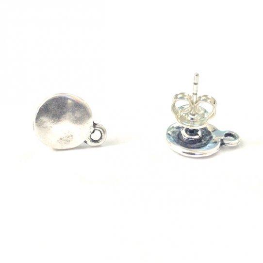 Boucles d'oreilles à clous Plaqué argent vif et or en France