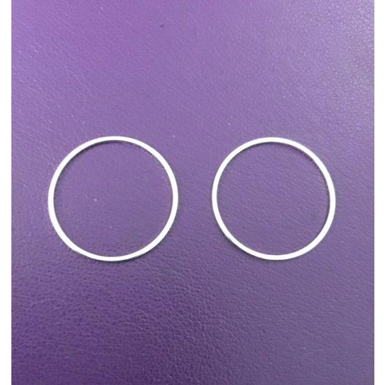 Cercle en laiton, 20mm plaqué 10 microns en France
