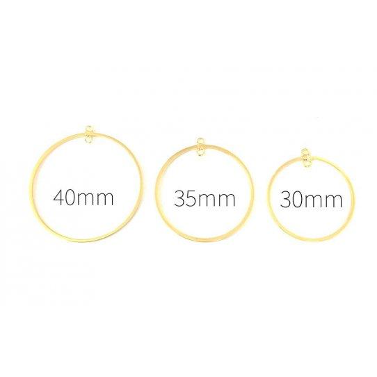 Cercle en laiton doré pour créer BO, trois tailles