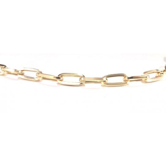 Chaine trombone en aluminium dorée dim : 23x10.3mm