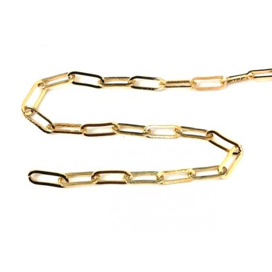 Chaine trombone11 x3.6mm, doré à l'or fin 24 carat en France