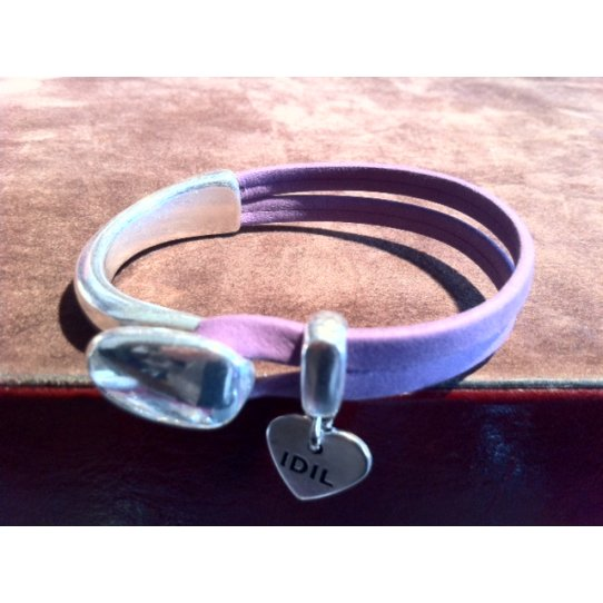 Demi jonc en zamac plaqué argent pour réaliser un bracelet