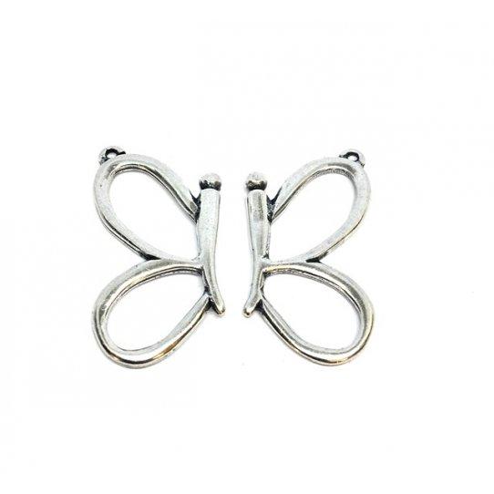 demi papillon en pendant
