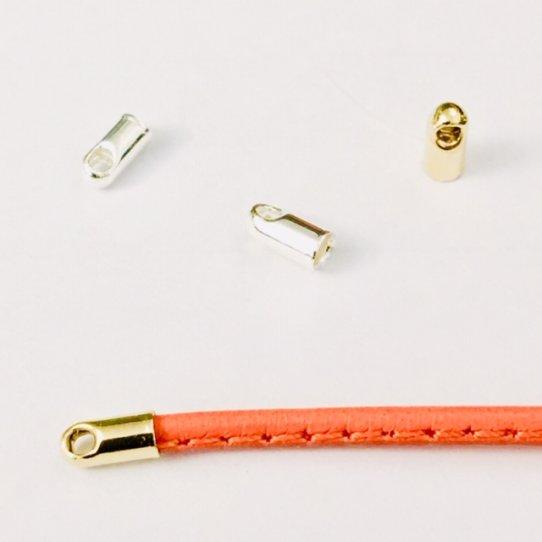 Embout de finition en laiton 1.5mm plaqués argent ou Or en France