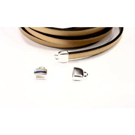 Embout pour cuir plat 5mm plaqués 10microns en FRANCE