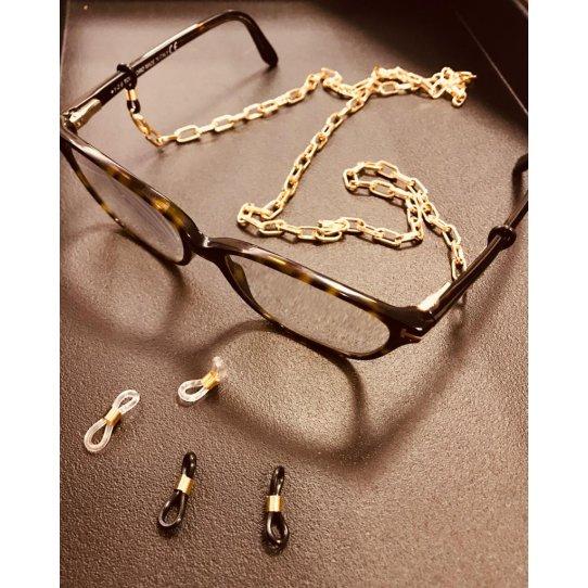 Embout silicon doré pour cordon à lunettes