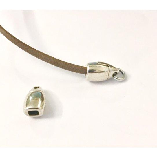Fermoir 3mm plat avec anneau-EXCLUSIVITÉ IDIL