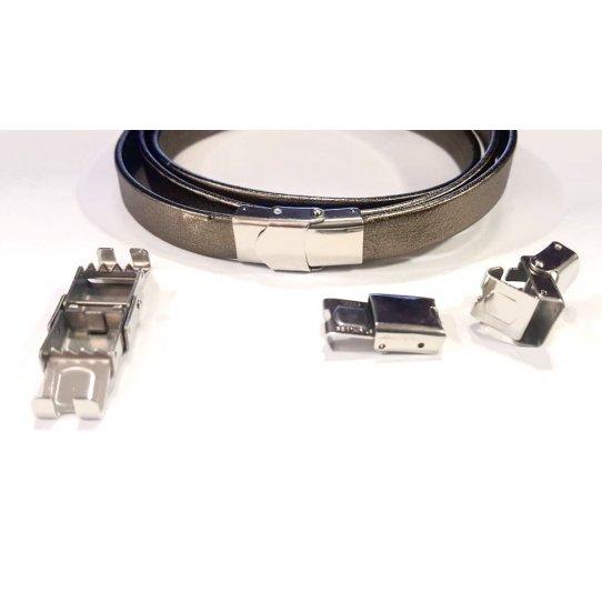 Fermoir en acier à clips ajustable 10x3mm