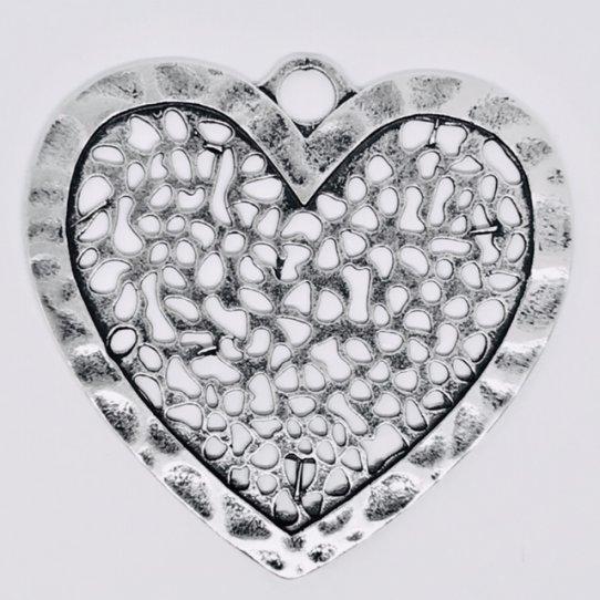 Grand coeur dentelle 63.50 x 67 mm