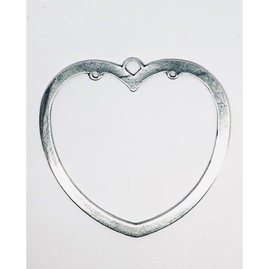 Grand pendant cœur avec anneaux