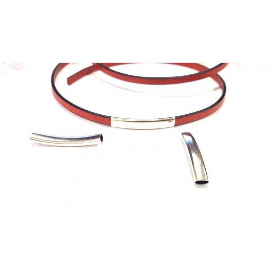 Passant tube pour cuir plat 5mm