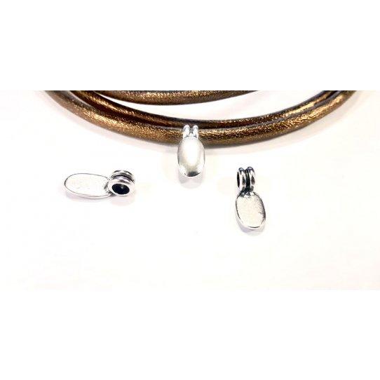 Pendant abstrait 3mm pour cuir rond