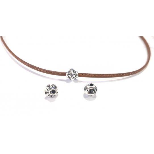 Perle en zamac de 6mm de diamètre