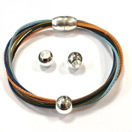 Perles en laiton 10mm diamètre externe gros trou interne 5mm
