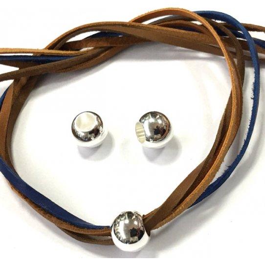 Perles en laiton 12mm diamètre externe gros trou interne 6mm