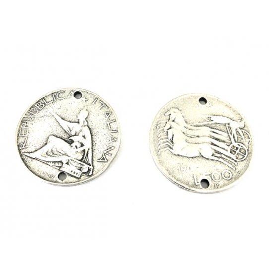 Pièce de monnaie Italienne en intercalaire 28.3mm