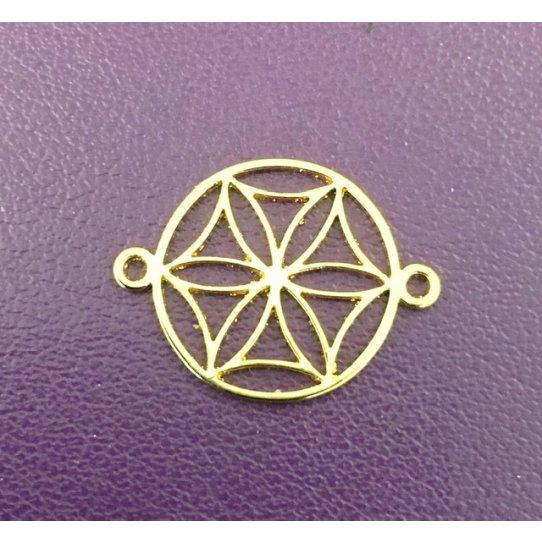 Symbole de la beauté féminine et de l'amour, Aphrodite INTERCALAIRE laiton doré 15mm